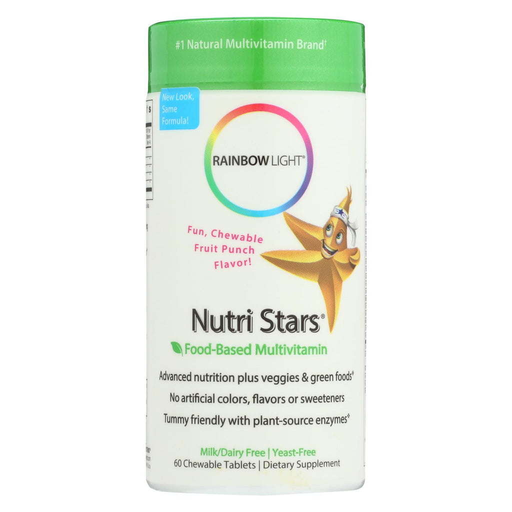 Rainbow Light Nutristars Delicious Fruit Blast - 60 Chewable Tablets