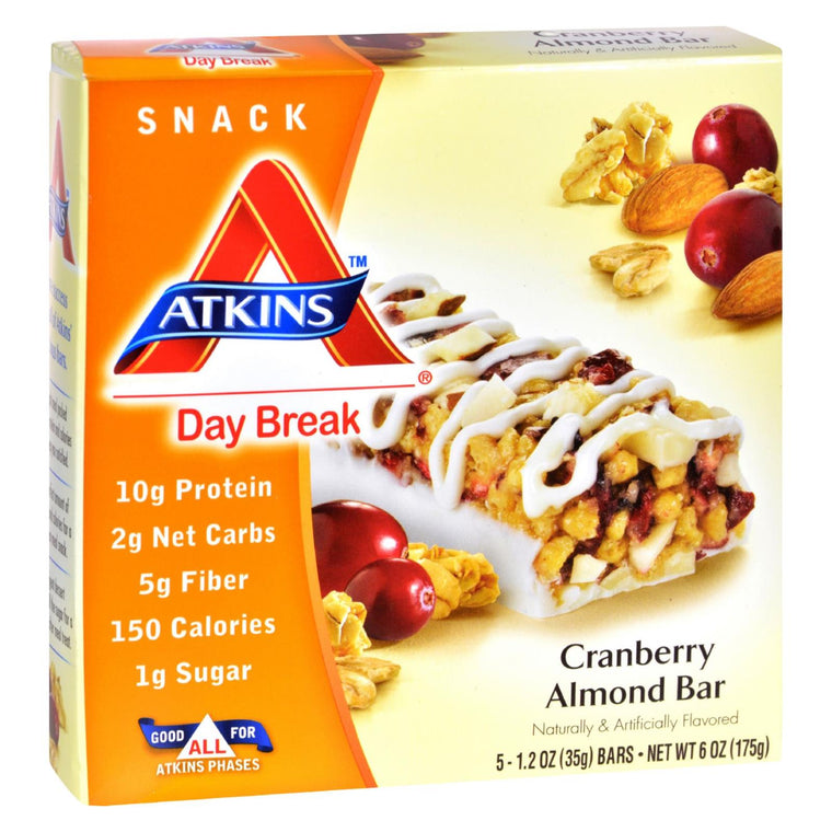 Atkins Day Break Bar Cranberry Almond - 5 Bars