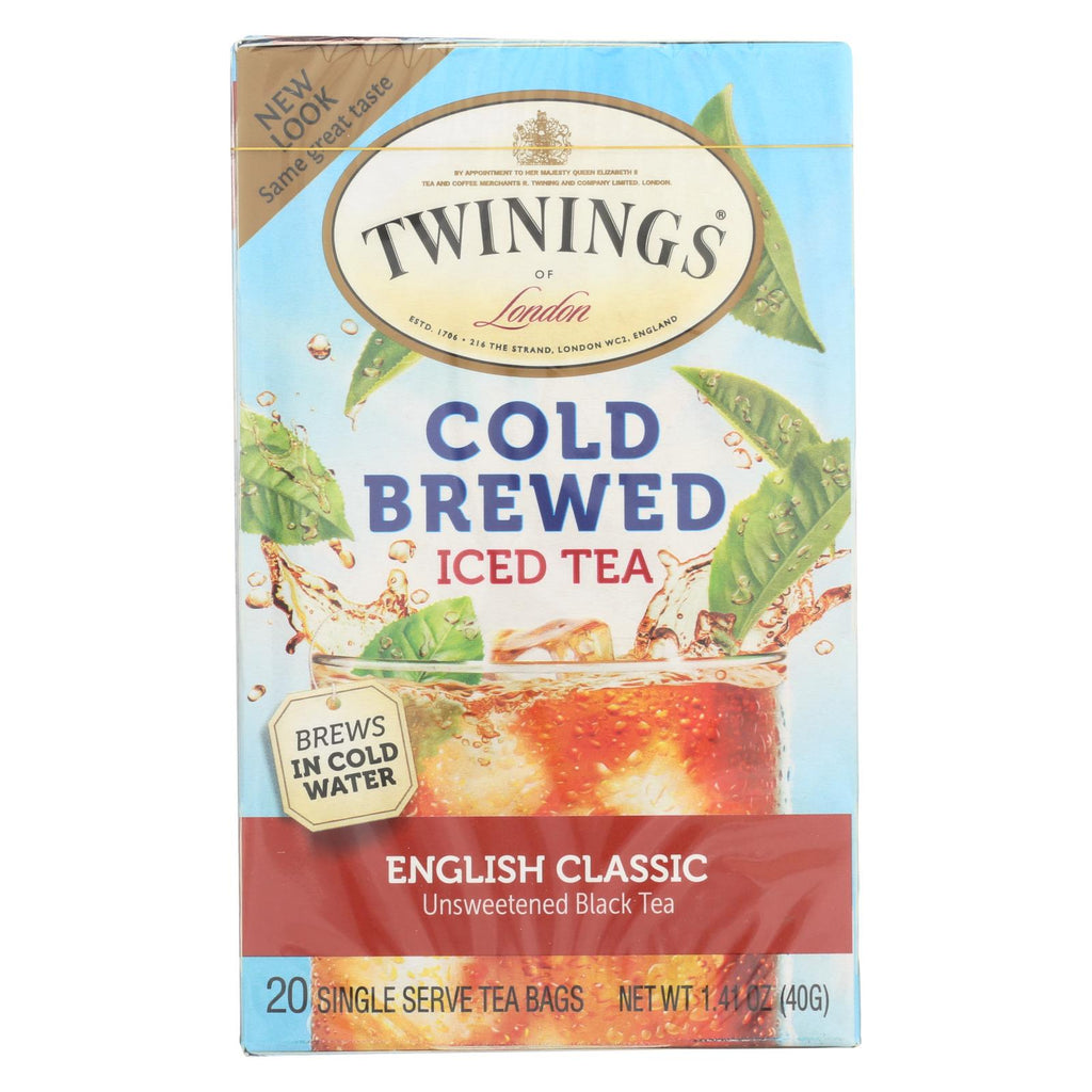 Twining's Tea Cold Brewed Iced Tea - English Classic - Case Of 6 - 20 Bags