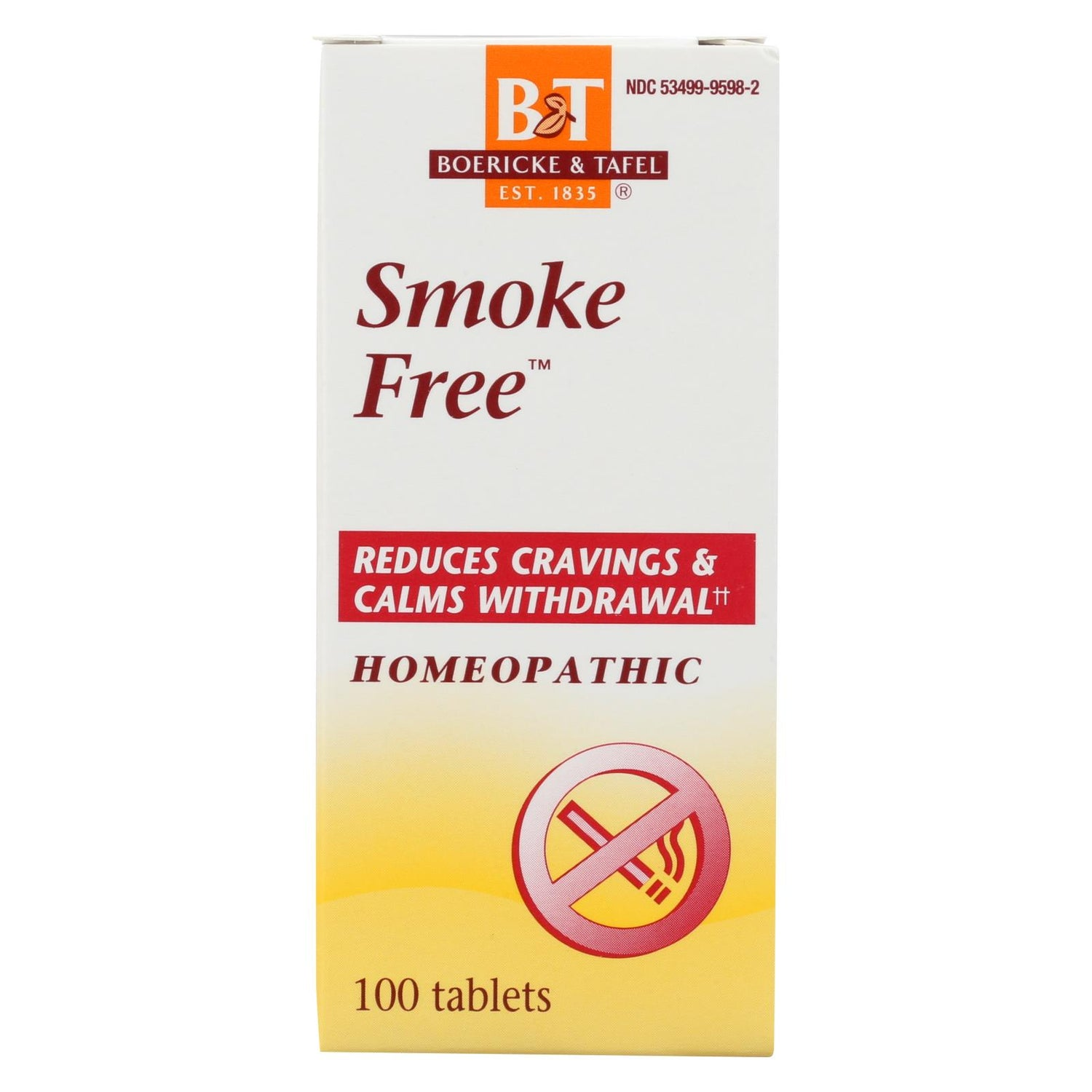 Boericke And Tafel Smoke Free Naturally - 100 Tablets