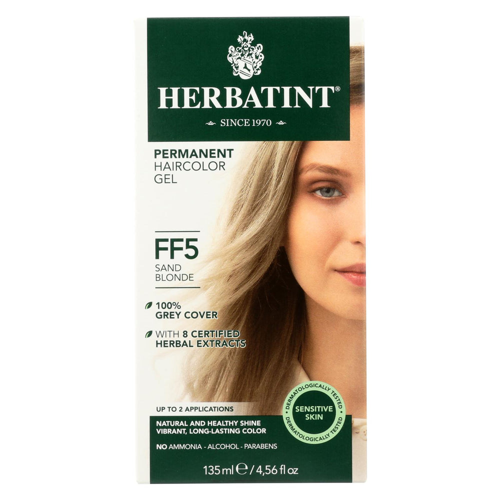 Herbatint Permanent Herbal Haircolour Gel Ff5 Sand Blonde - 1 Kit