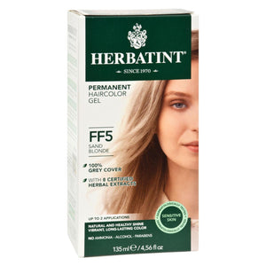 Load image into Gallery viewer, Herbatint Permanent Herbal Haircolour Gel Ff5 Sand Blonde - 1 Kit