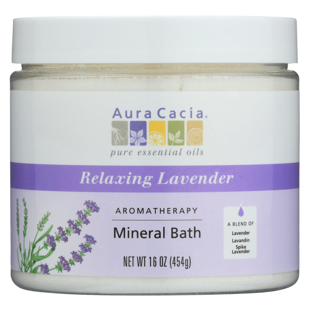 Load image into Gallery viewer, Aura Cacia Aromatherapy Mineral Bath Lavender Harvest - 16 Oz
