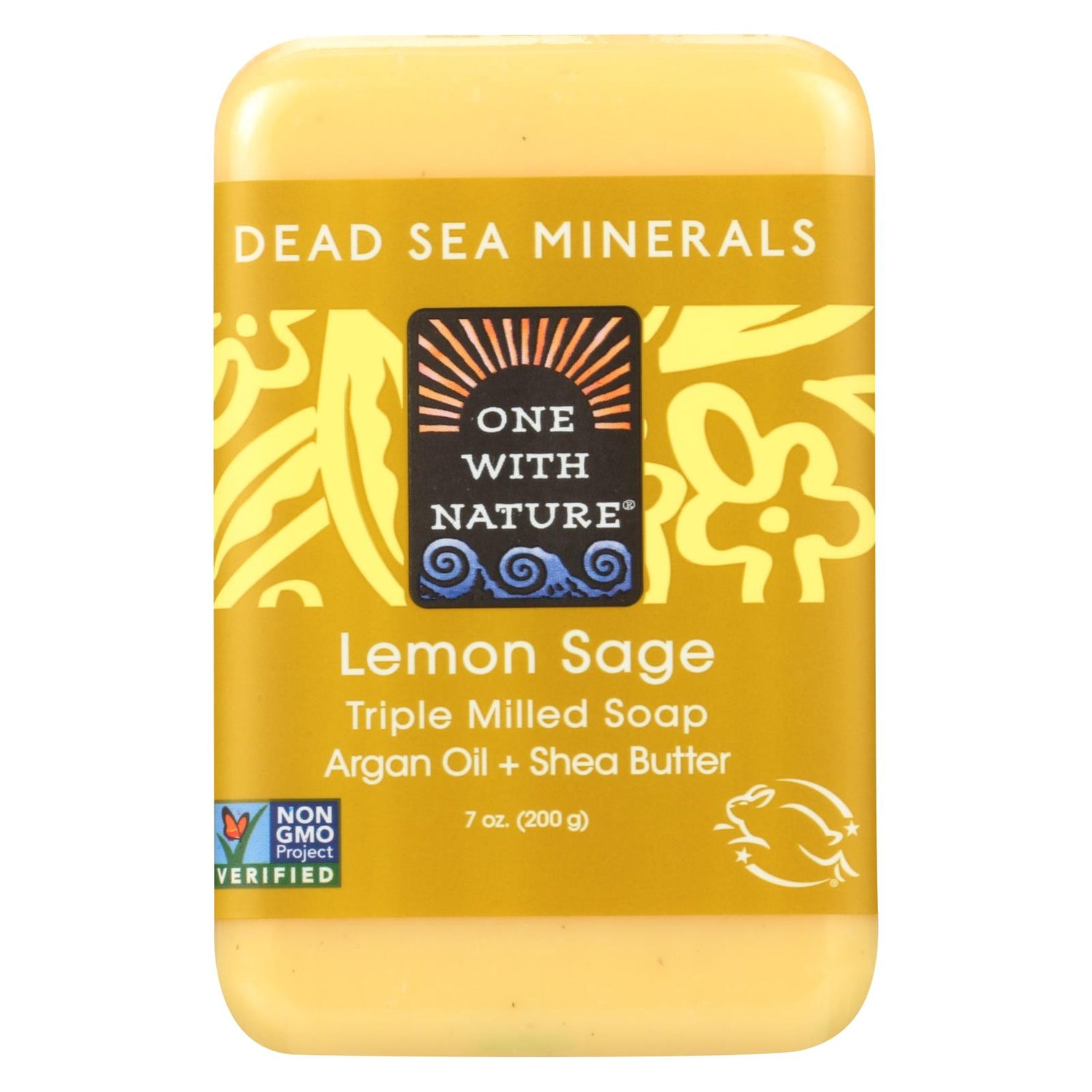 One With Nature Dead Sea Mineral Lemon Verbena Soap - 7 Oz