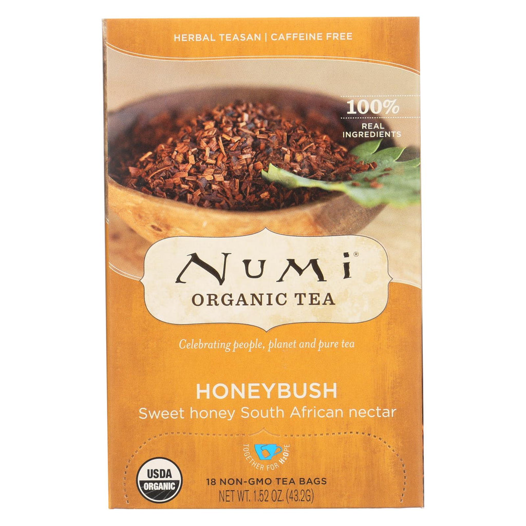 Numi Tea Herbal Tea - Honeybush - Caffeine Free - 18 Bags