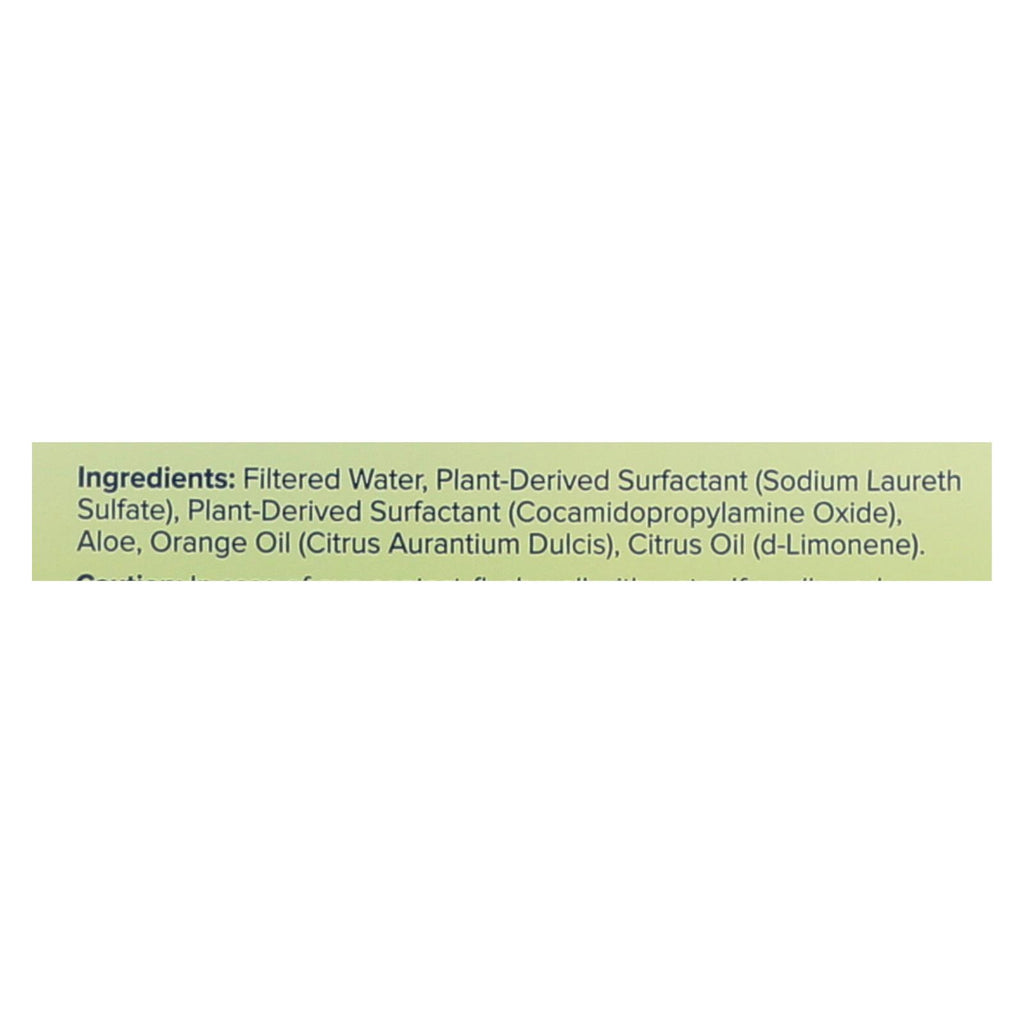 Sun And Earth Natural Concentrated Liquid Dish Soap - Light Citrus - Case Of 6 - 22 Oz