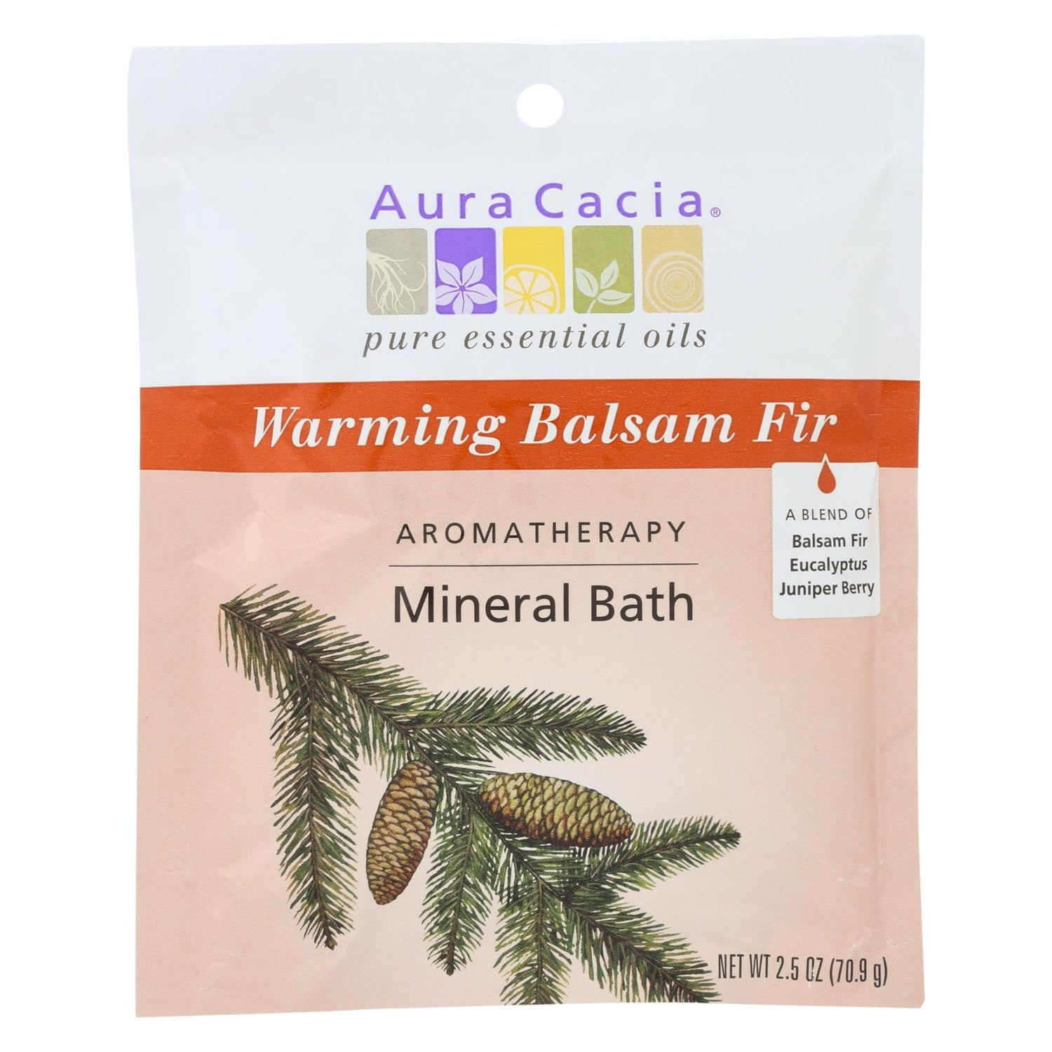 Aura Cacia Aromatherapy Mineral Bath Soothing Heat - 2.5 Oz - Case Of 6