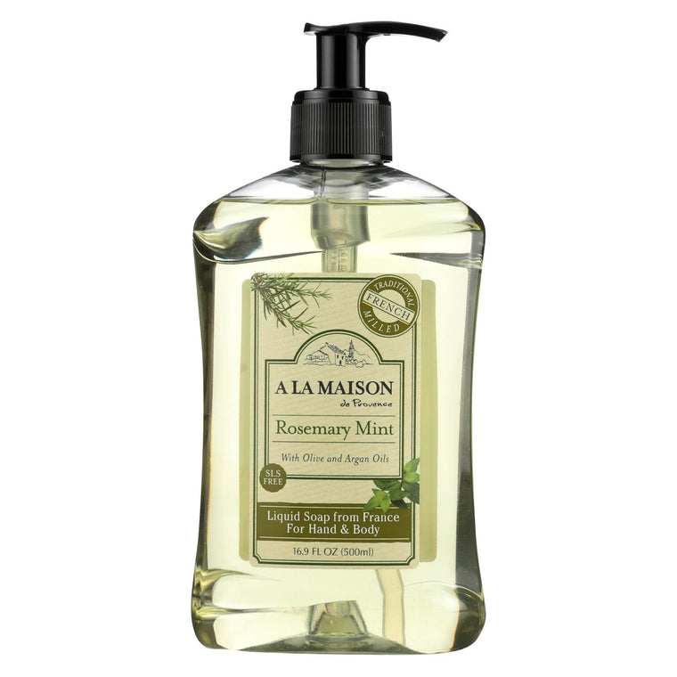 A La Maison French Liquid Soap - Rosemary Mint - 16.9 Fl Oz