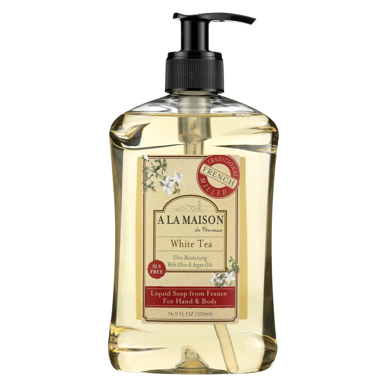 A La Maison French Liquid Soap - White Tea - 16.9 Fl Oz