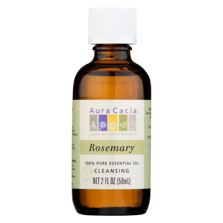Aura Cacia 100% Pure Essential Oil Rosemary Cleansing - 2 Oz