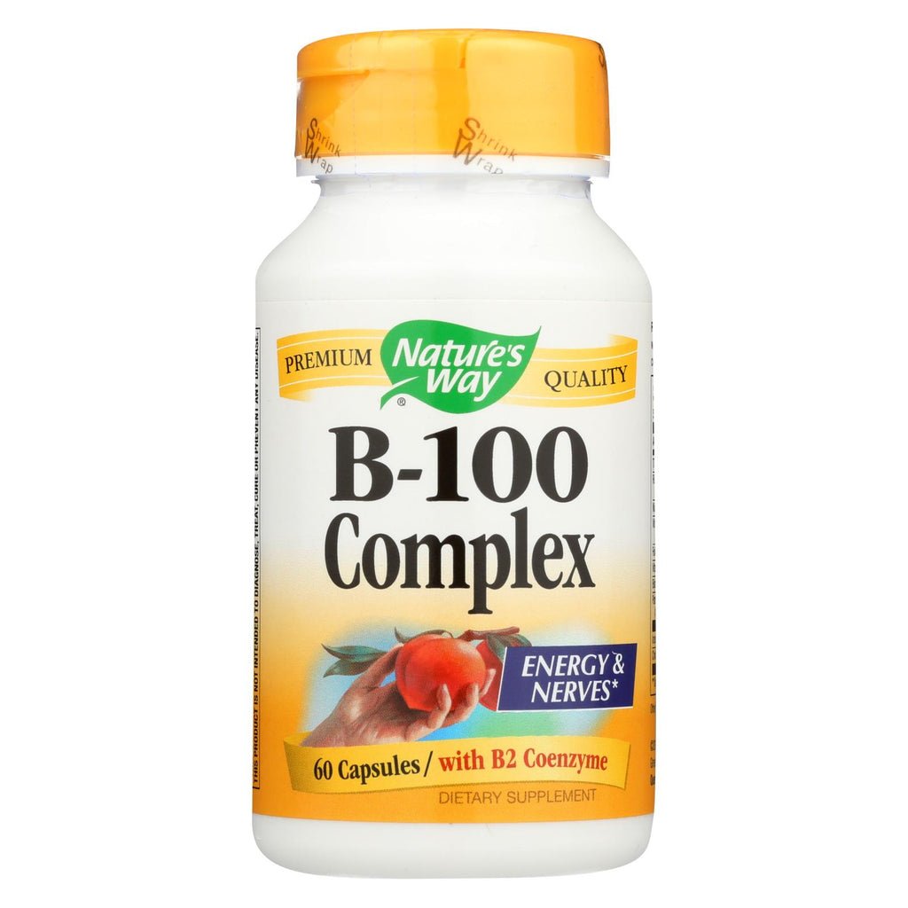 Nature's Way Vitamin B-100 Complex - 60 Capsules