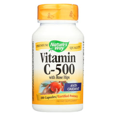 Nature's Way Vitamin C-500 With Rose Hips - 500 Mg - 100 Capsules