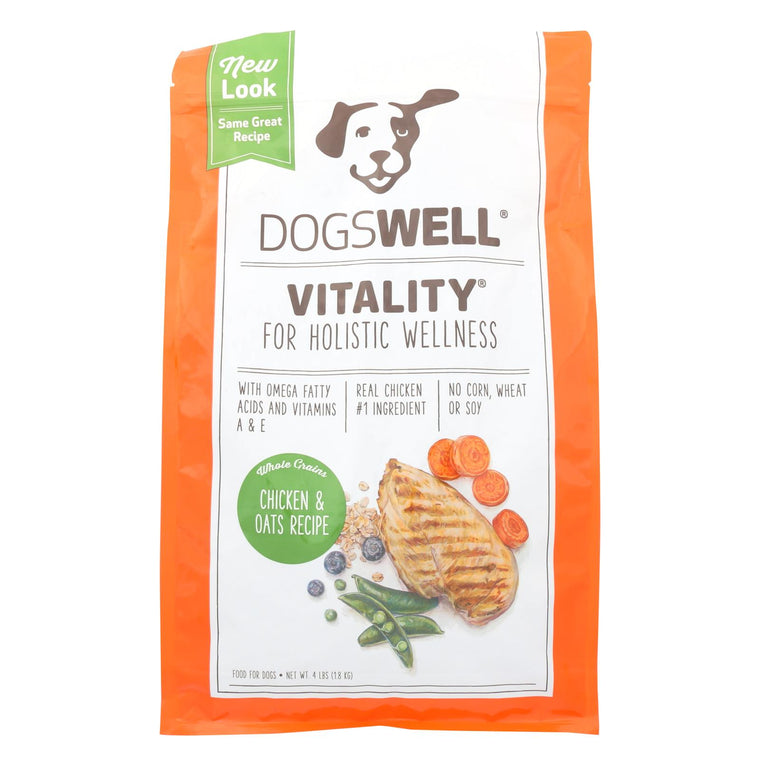 Dogs Well Vitality Chicken And Oats Dog Food - Case Of 6 - 4 Lb.