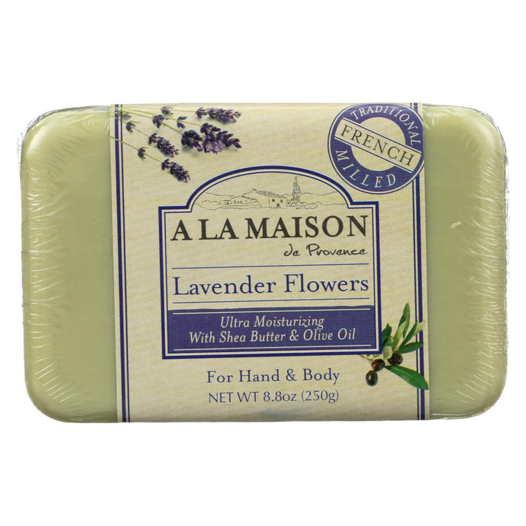 A La Maison Bar Soap - Lavender Flowers - 8.8 Oz