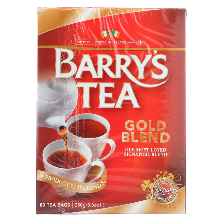 Barry's Tea Irish Tea - Gold Blend - Case Of 6 - 80 Bags
