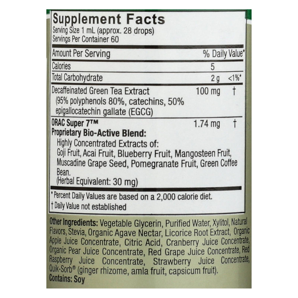 Nature's Answer Platinum Green Tea - Mixed Berry - 2 Oz