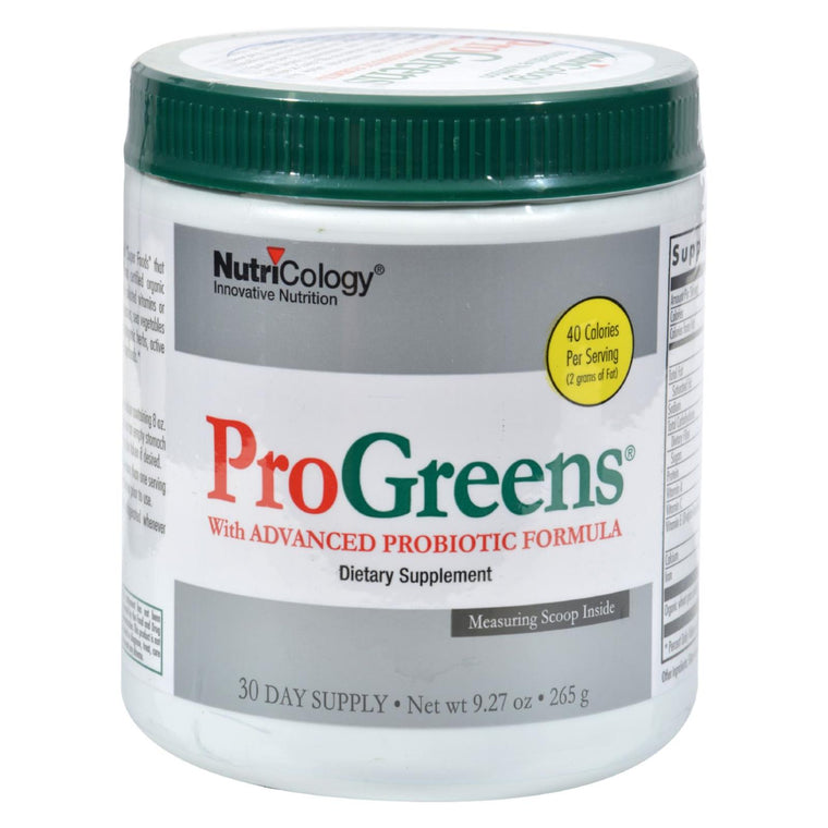 Nutricology Pro Greens With Advanced Probiotic Formula - 9.27 Oz