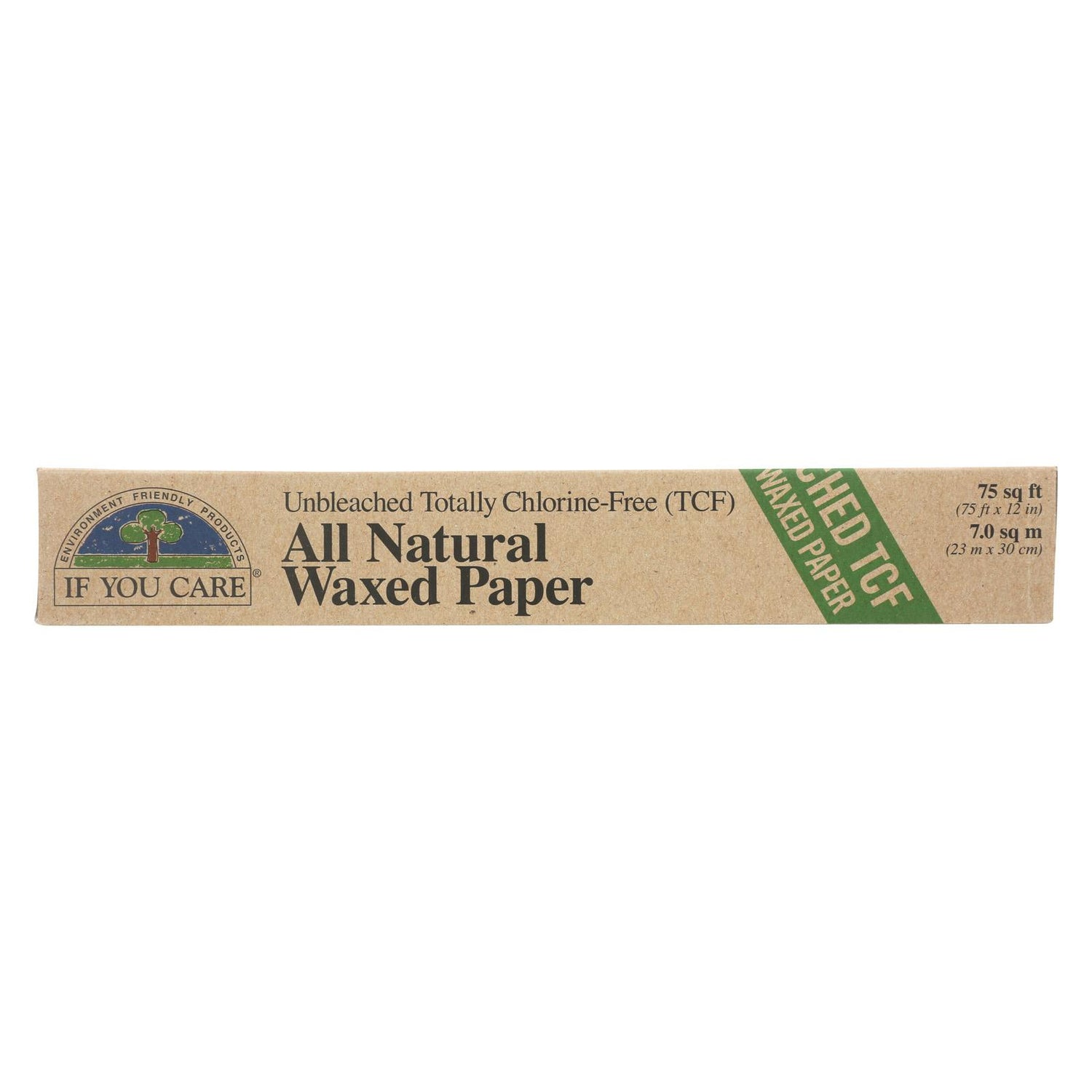 If You Care Waxed Paper - All Natural - 100 Percent Unbleached - 75 Sq Ft