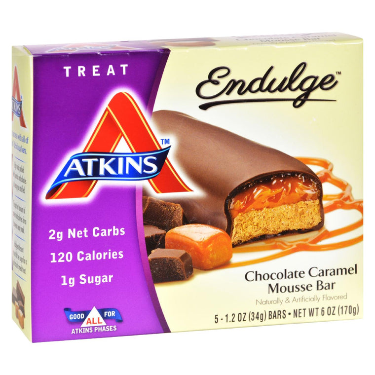 Atkins Endulge Bar Chocolate Caramel Mousse - 5 Bars
