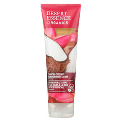 Desert Essence Hand And Body Lotion Tropical Coconut - 8 Fl Oz