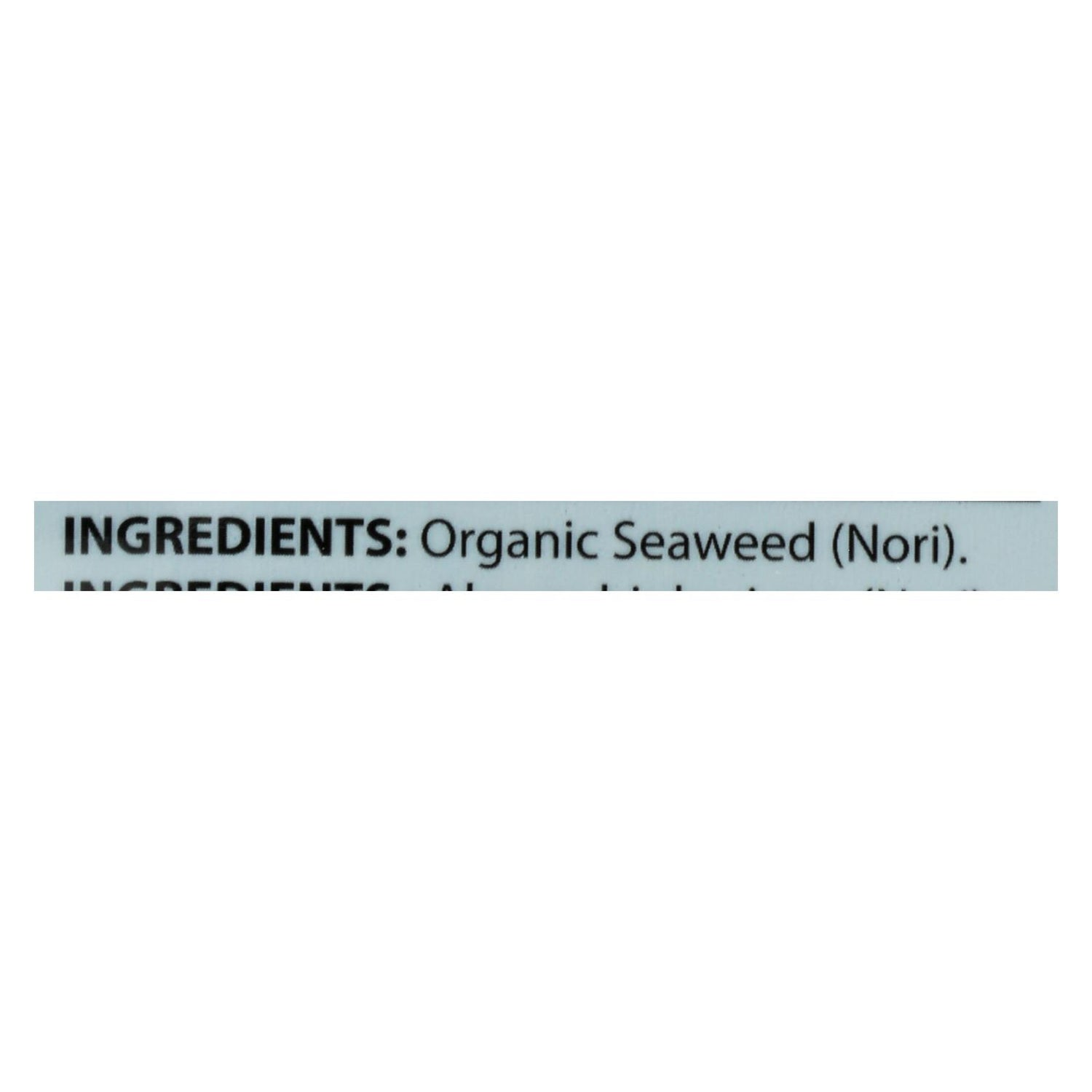 Seasnax Raw Seaweed Snack - Case Of 16 - 1 Oz.