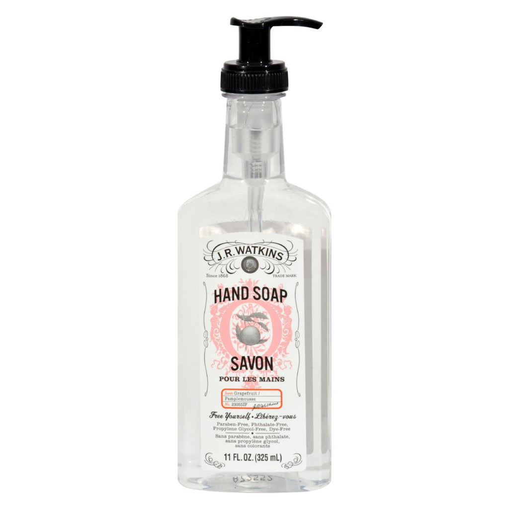 J.r. Watkins Liquid Hand Soap - Grapefruit - Case Of 6 - 11 Oz