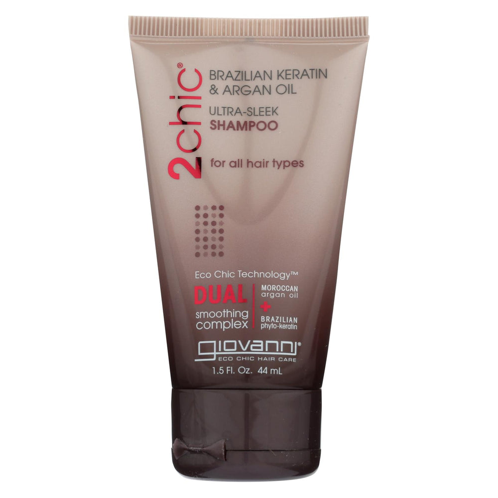 Giovanni Hair Care Products Shampoo - 2chic Sleek - Travel Size - Case Of 12 - 1.5 Oz