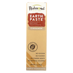 Redmond Trading Company Earthpaste Natural Toothpaste Cinnamon - 4 Oz