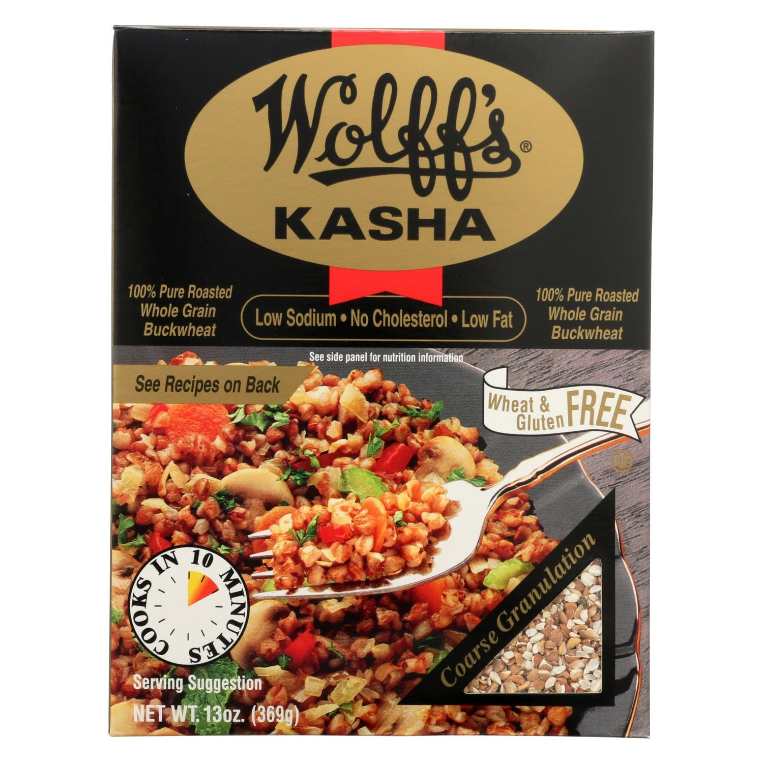 Wolff's Kasha Coarse Granulation - Case Of 6 - 13 Oz.