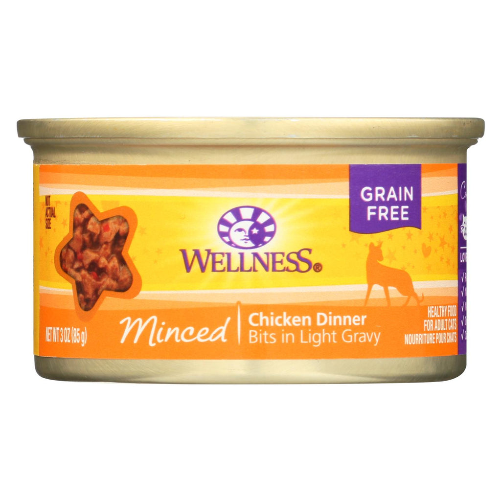Wellness Pet Products Cat Food - Chicken Dinner - Case Of 24 - 3 Oz.