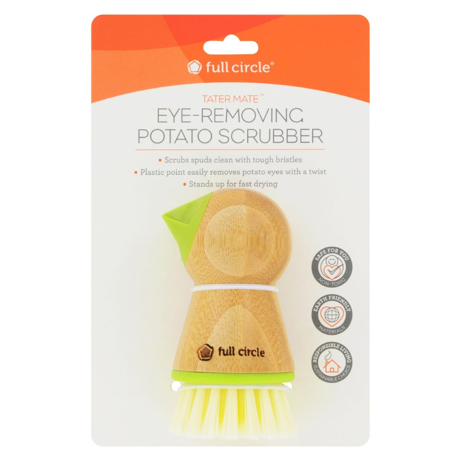 Full Circle Home Tater Mate Potato Brush With Eye Remover - Case Of 6