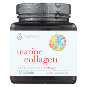 Load image into Gallery viewer, Youtheory Marine Collagen - Type 1 And 3 - Advanced Formula - 160 Tablets
