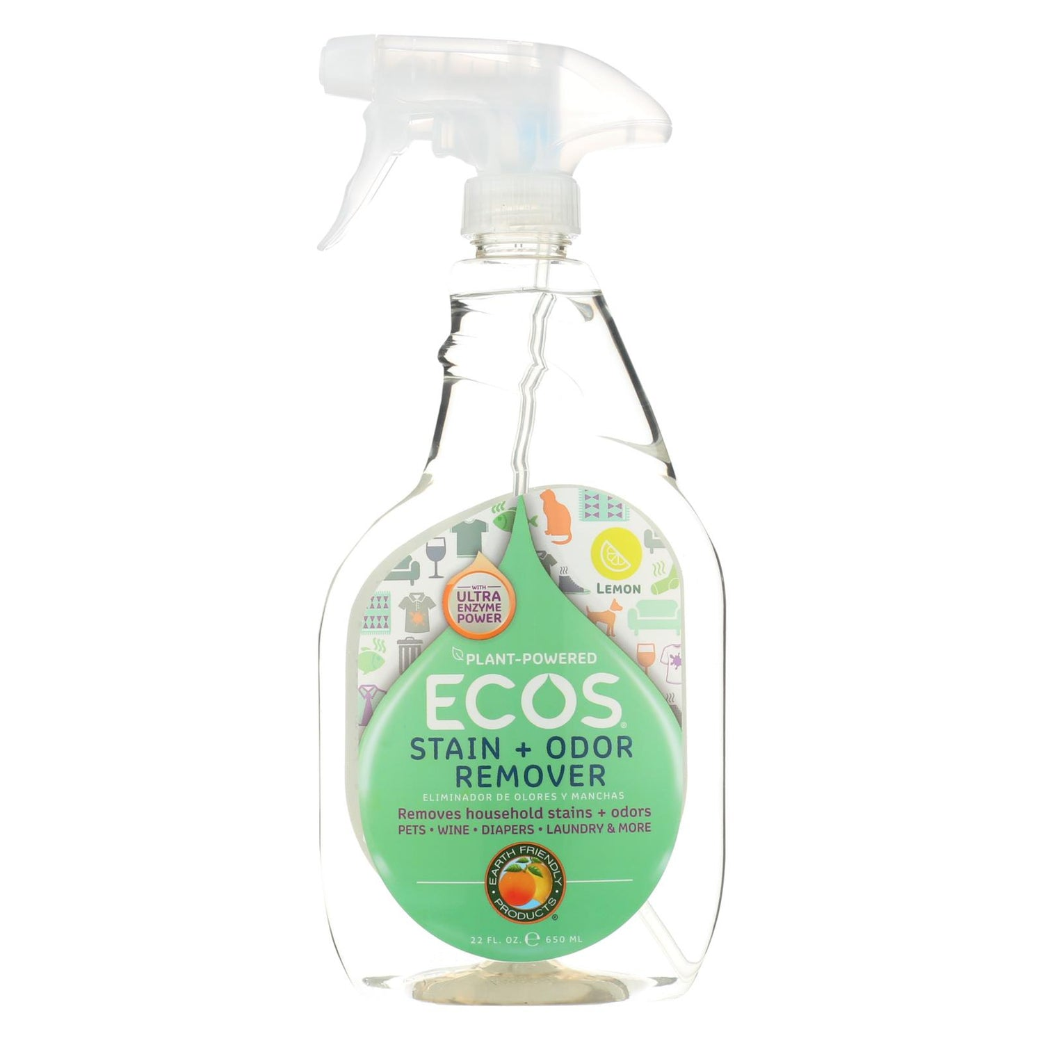 Earth Friendly Stain And Odor Remover Spray - 22 Fl Oz