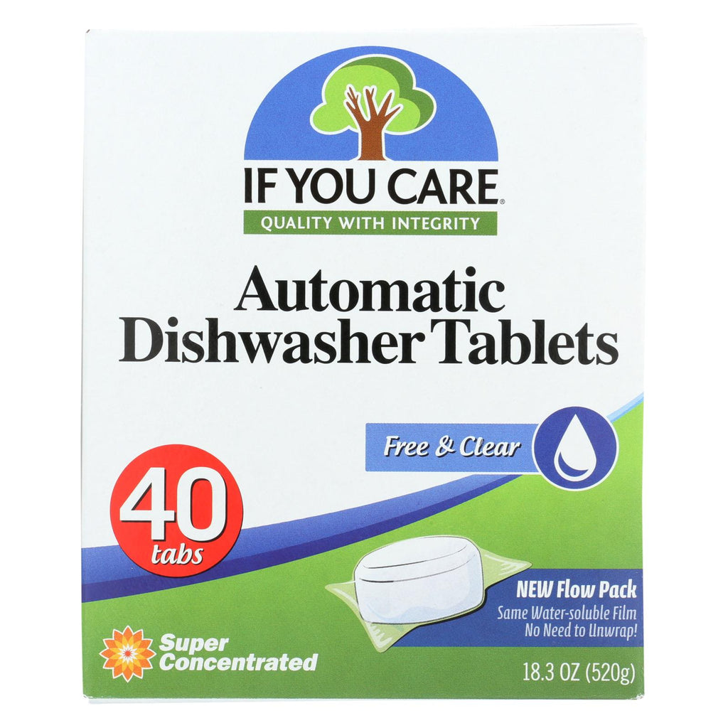 If You Care Automatic Dishwasher Tabs - 40 Count - Case Of 8