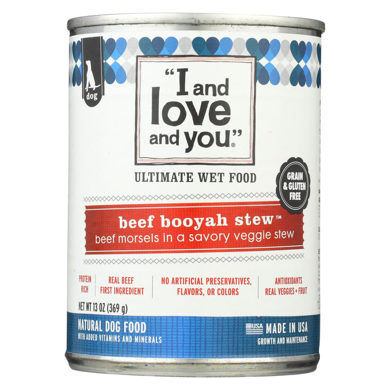 I And Love And You Beef Booyah Stew - Wet Food - Case Of 12 - 13 Oz.