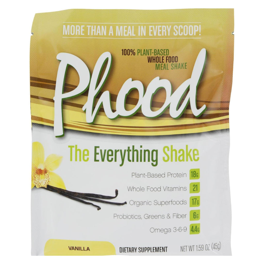 Plantfusion Phood Packets - Vanilla - 1.59 Oz - Case Of 12