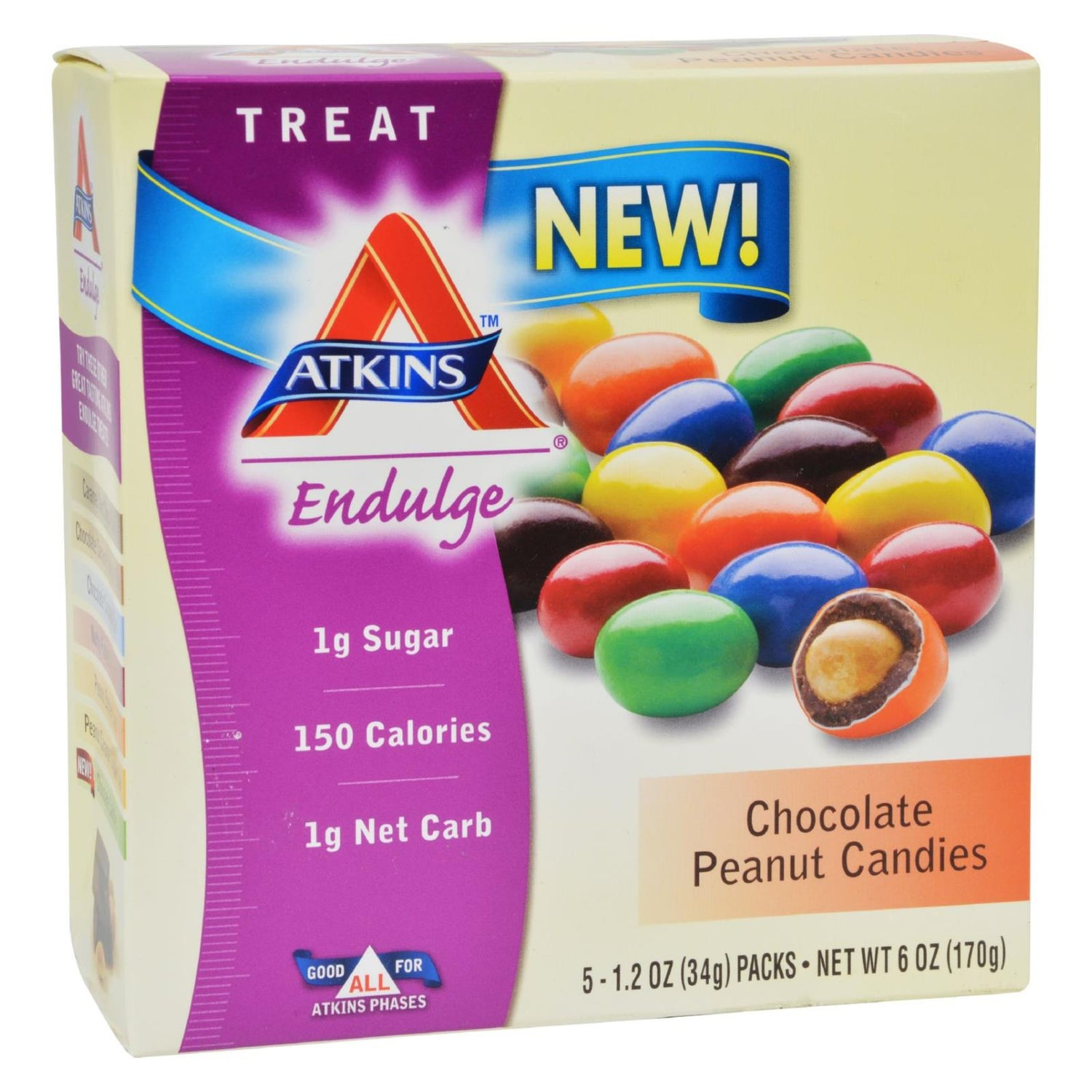 Atkins Endulge Bars - Chocolate Peanut Butter Cups - 1.2 Oz - 5 Ct