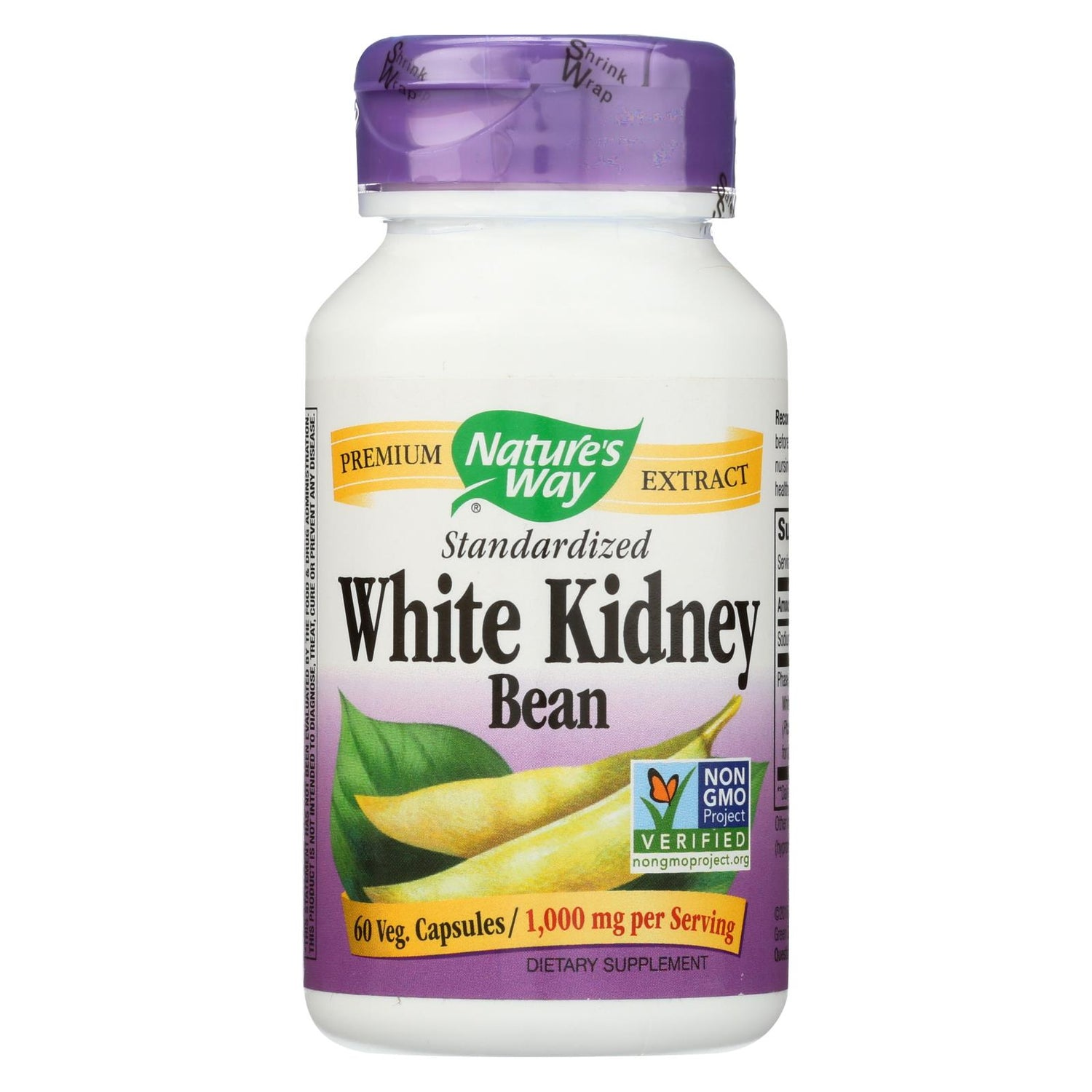 Natures Way White Kidney Bean - 60 Vegetarian Capsules