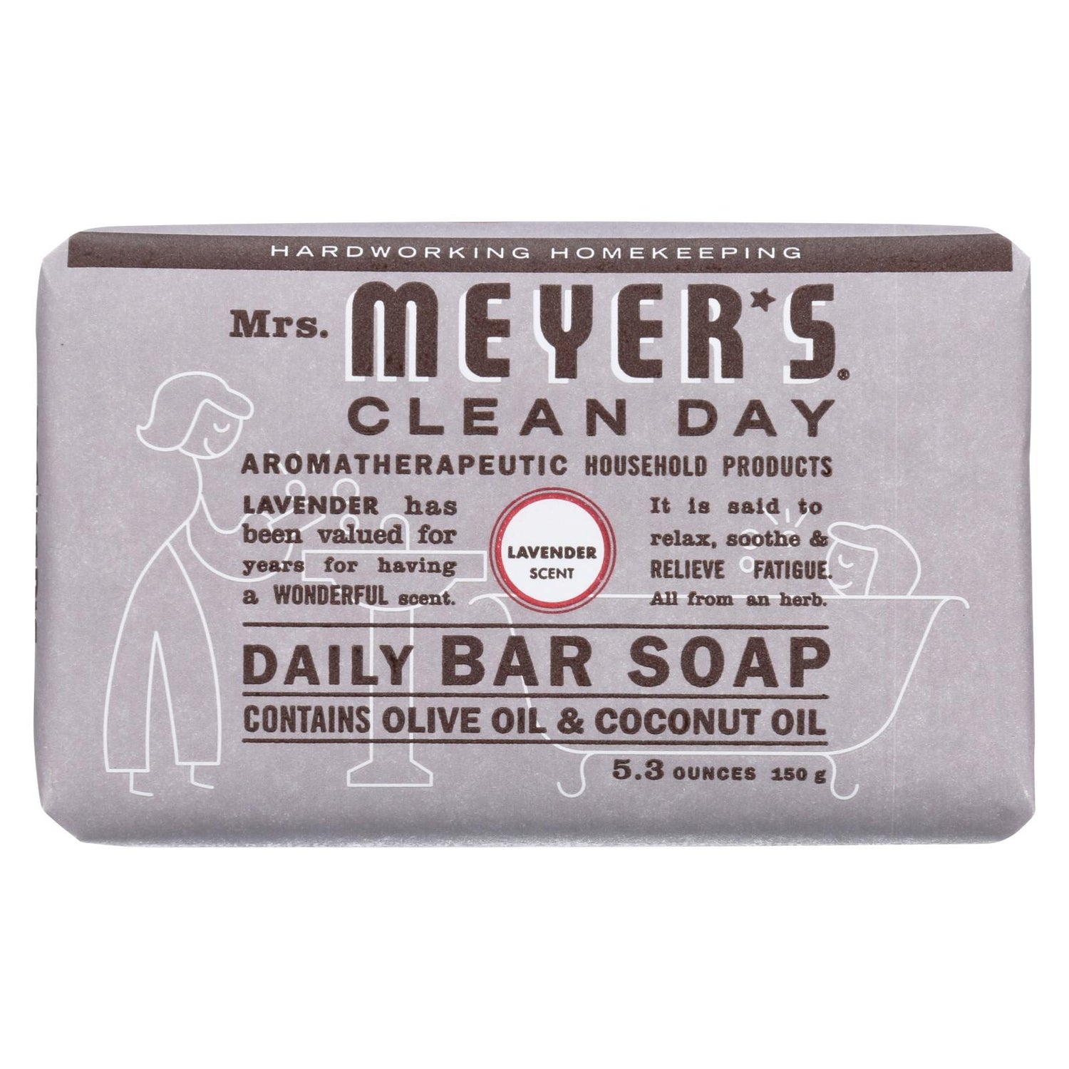 Mrs. Meyer's Bar Soap - Lavender - 5.3 Oz