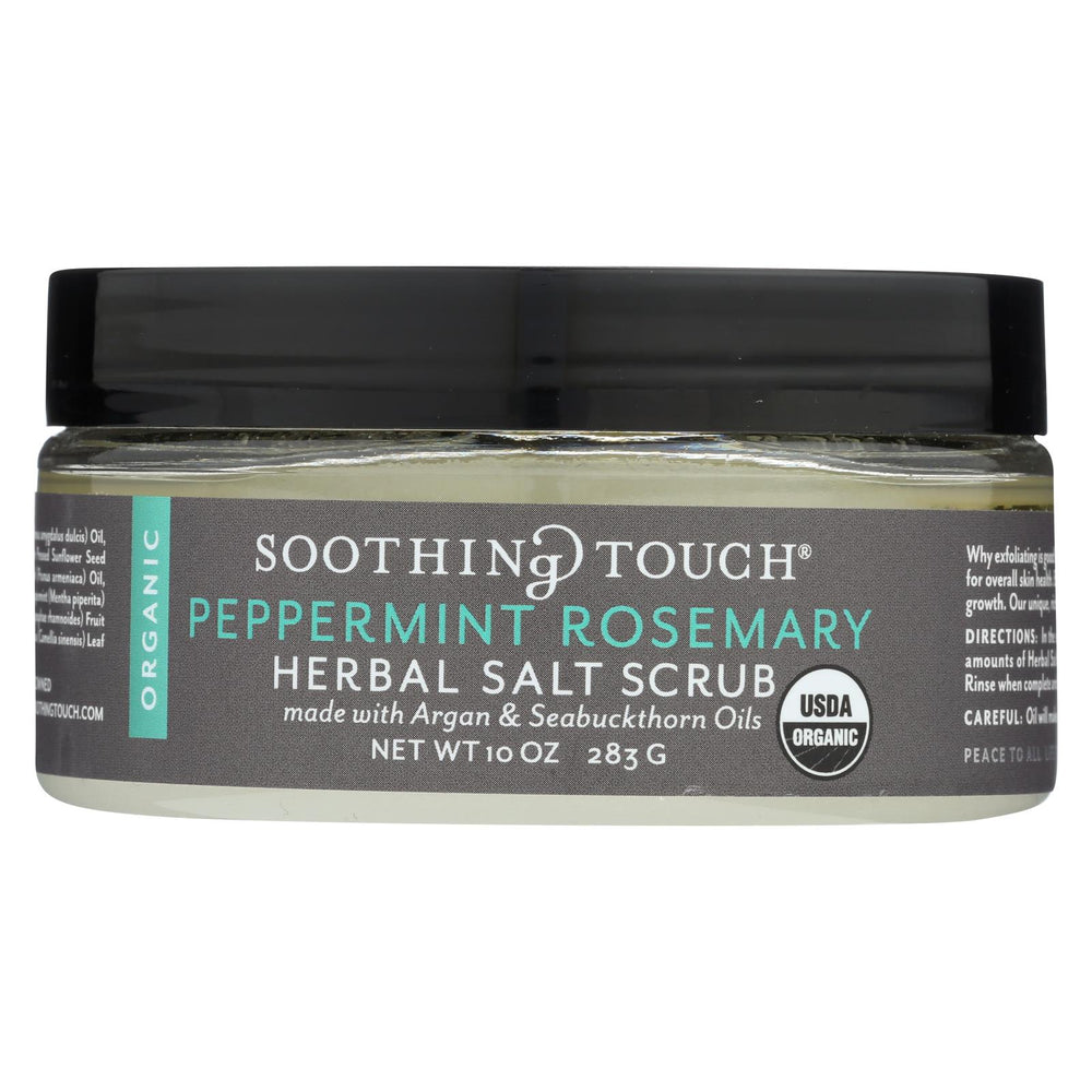 Soothing Touch Scrub - Organic - Salt - Herbal - Peppermint Rosemary - 10 Oz