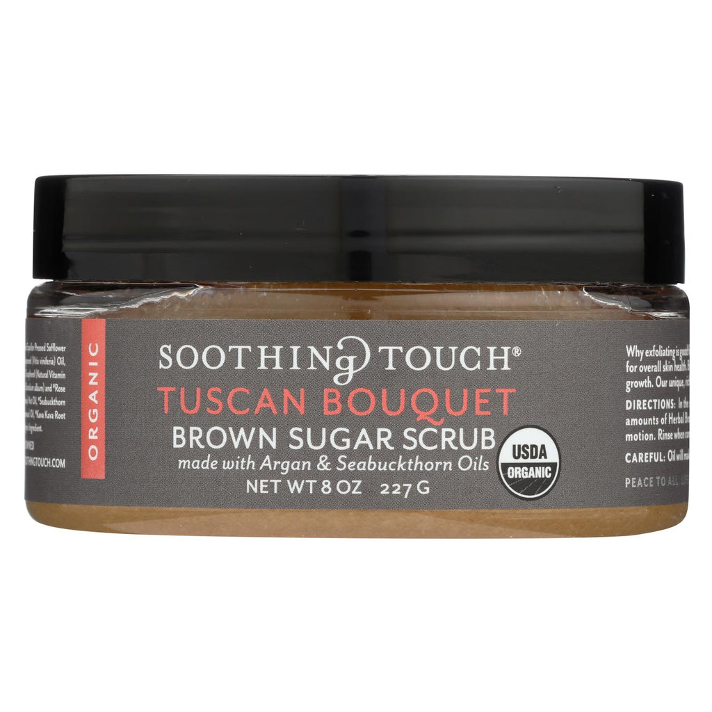 Soothing Touch Scrub - Organic - Sugar - Tuscan Bouquet - 8 Oz