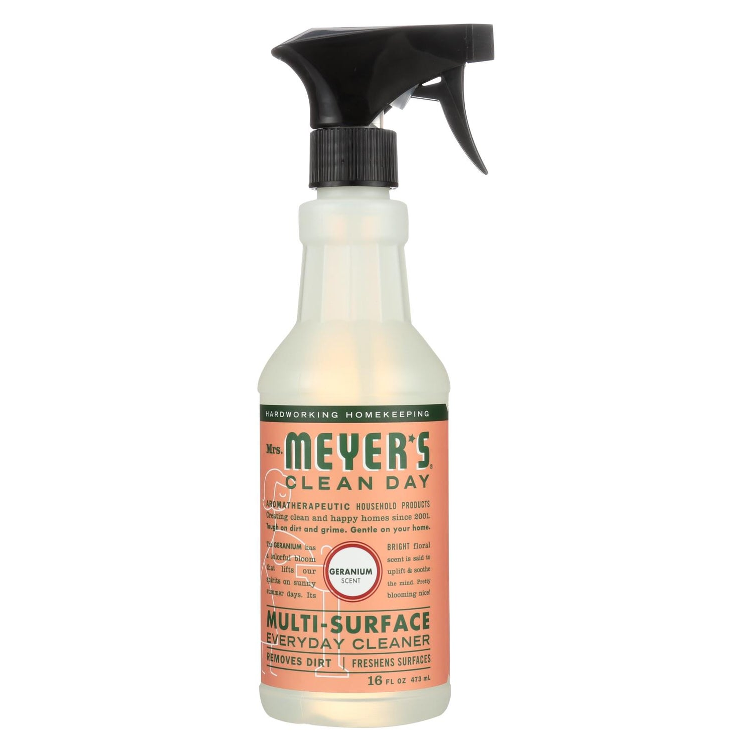 Mrs. Meyer's Multi Surface Spray Cleaner - Geranium - 16 Fl Oz - Case Of 6