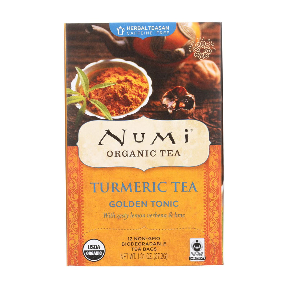 Load image into Gallery viewer, Numi Tea - Organic - Turmeric - Golden Tonic - 12 Bags - Case Of 6