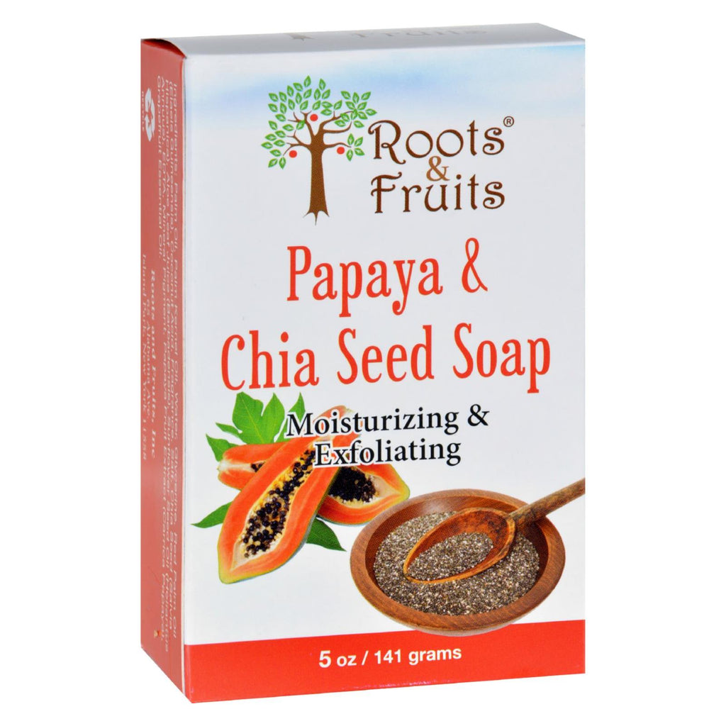 Roots And Fruits Bar Soap - Papaya And Chia Seed - 5 Oz