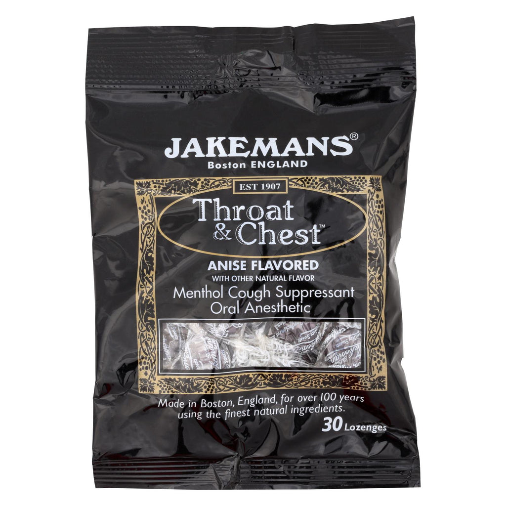 Jakemans Lozenge - Throat And Chest - Licorice - 30 Count