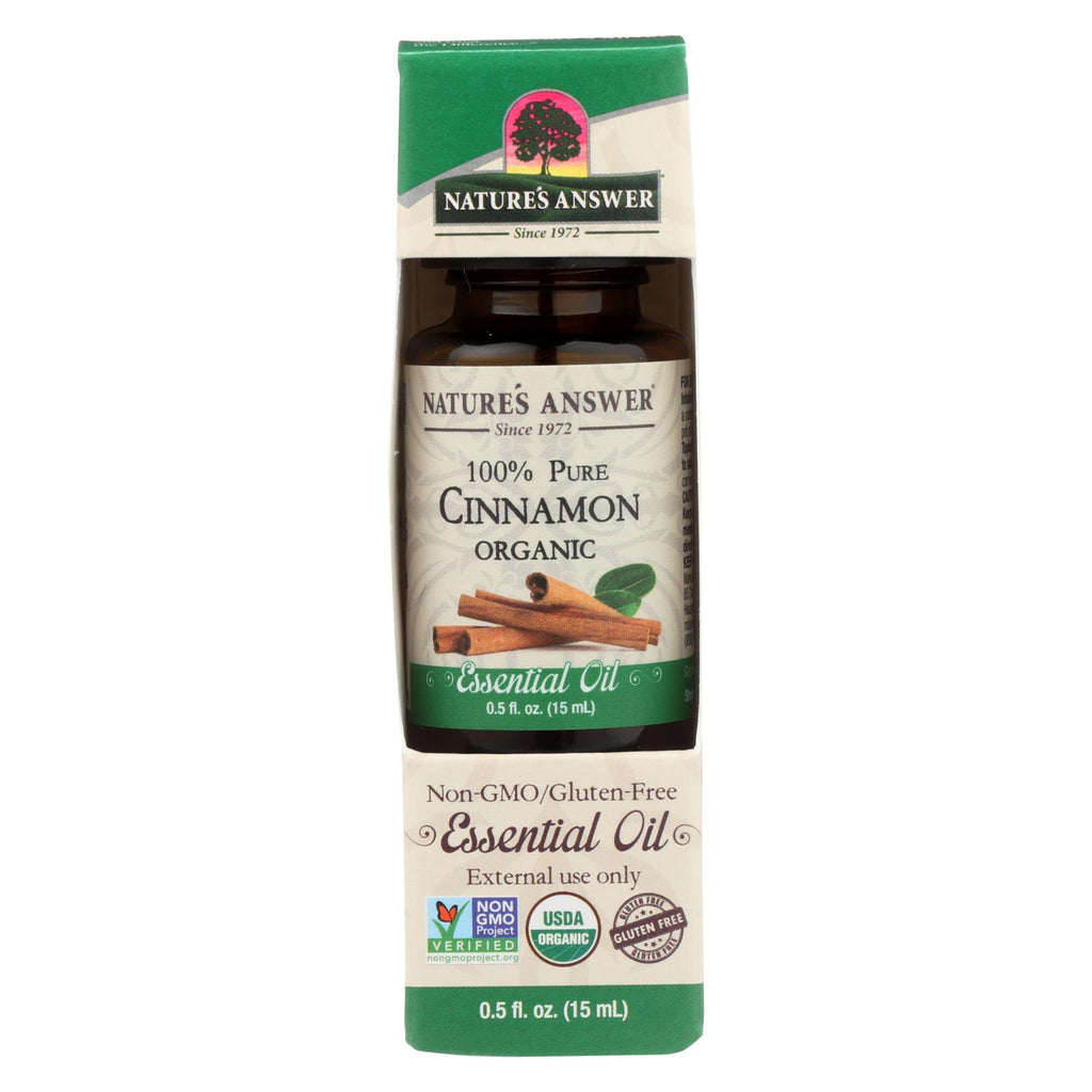 Natures Answer Essential Oil - Organic - Cinnamon - .5 Oz