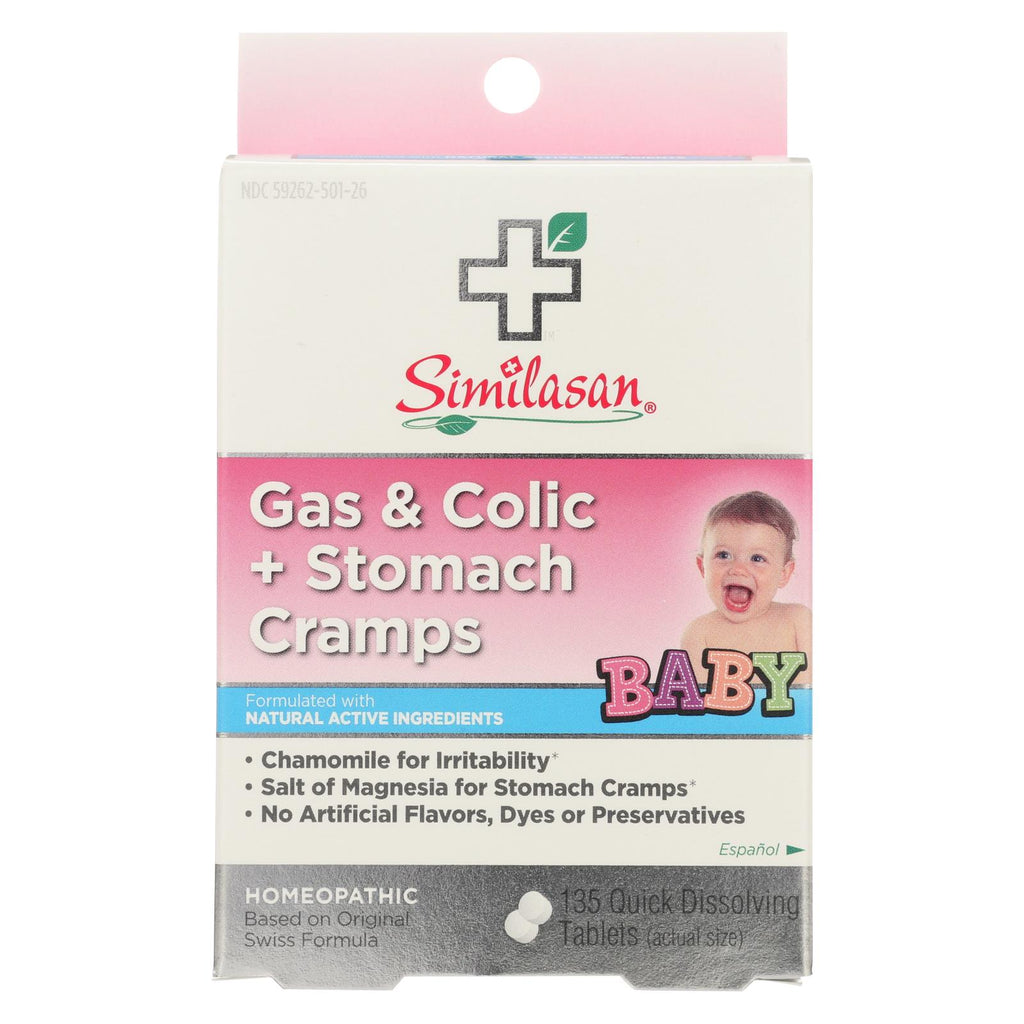 Similasan Baby Gas And Colic Plus Stomach Cramps - 135 Tablets
