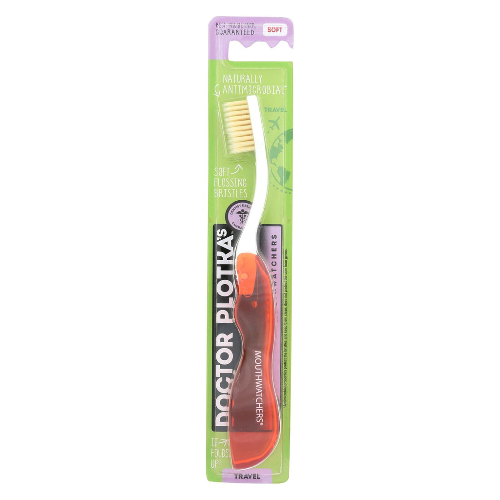 Mouth Watchers Toothbrush - Red - Travel - 1 Count - Case Of 5