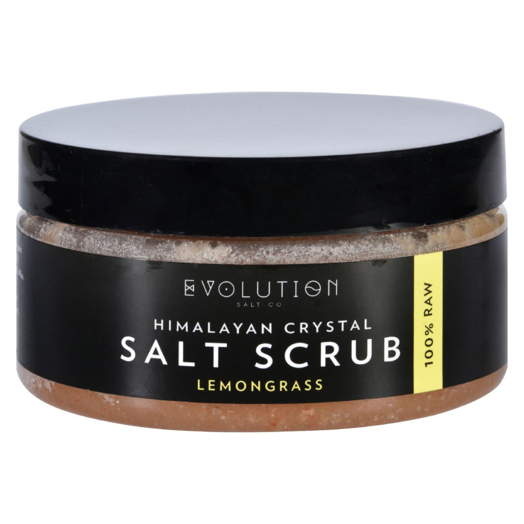 Evolution Salt Salt Scrub - Himalayan - Lemongrass - 12 Oz