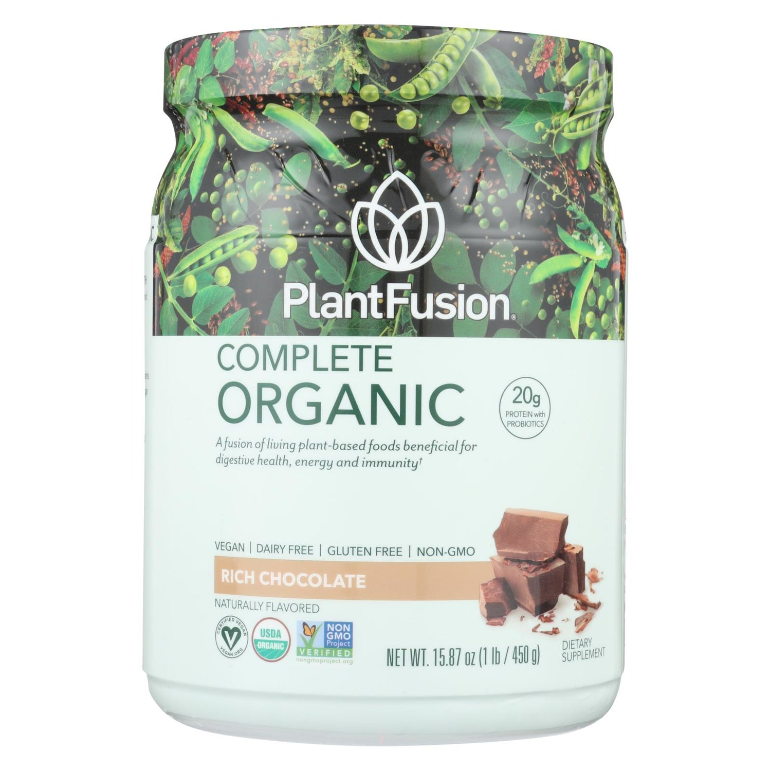 Plantfusion Plant Protein - Organic - Chocolate - 1 Lb